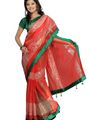 Florence Plain Net Saree - Pink