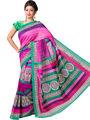 Ishin Bhagalpuri Cotton Printed Saree - Multicolor - ISHIN-2418