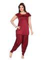 Ishin Satin Solid Nighty Set - Red_SULDR-9418-B