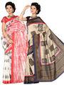 Combo of 2 Ishin Art Silk Printed Saree - Combo-397