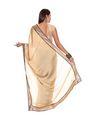 Nanda Silk Mills Pure Chiffon Printed Saree - Gold