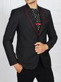 Runako Solid Regular Full sleeves Semi Formal Blazer For Men - Black