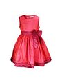 ShopperTree 100% POLYESTER Plain Girls Frock - Red