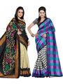 Pack of 2 Thankar Printed Bhagalpuri Saree -Tds137-193.194