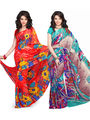 Combo of 2 Georgette Printed Saree -VD15970